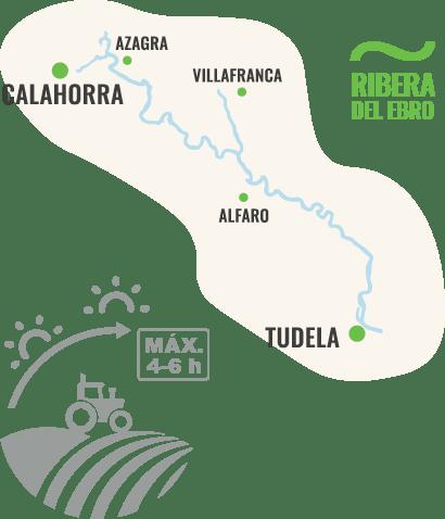 Mapa ribera del Ebro